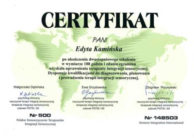 Certyfikat SI